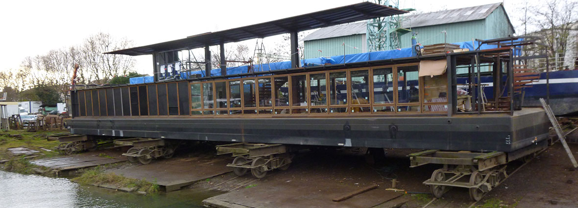 construction d un bateau restaurant l avant seine blog vdb. Black Bedroom Furniture Sets. Home Design Ideas